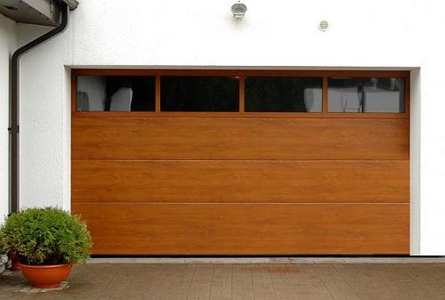 ворота с прозрачным стеклопакетом