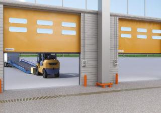Ворота рулонные скоростные для наружного использования