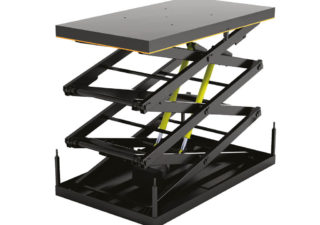 Стол подъемный с тремя парами ножниц